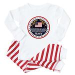 Navy Aunt Baby Pajamas