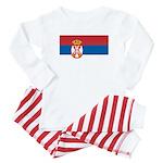 Serbia Flag Baby Pajamas