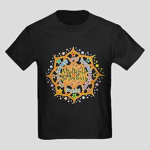 Multiple Sclerosis Lotus Kids Dark T-Shirt
