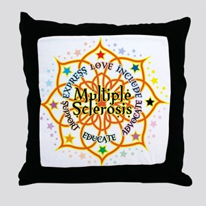 Multiple Sclerosis Lotus Throw Pillow