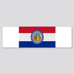Beloved Missouri Flag Modern Sticker (Bumper 10 pk