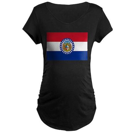 Beloved Missouri Flag Modern Maternity Dark T-Shir