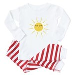 Kawaii smiley sun Baby Pajamas