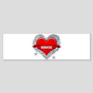 My Heart Missouri Vector Styl Sticker (Bumper 10 p