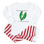 Give peas (peace) a chance Baby Pajamas
