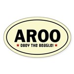 Aroo - Obey The Beagle! Oval Sticker