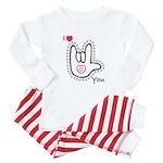 B/W Bold I-Love-You Baby Pajamas
