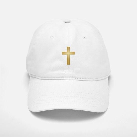 Gold Cross Baseball Baseball Cap