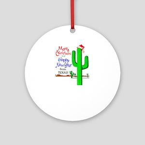 Texas Christmas Ornament (Round)