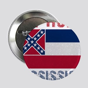 """My Home Mississippi Vintage S 2.25"""" Button"""