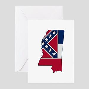 Mississippi Stripe Custom Des Greeting Card