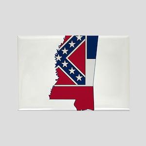 Mississippi Stripe Custom Des Rectangle Magnet