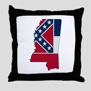 Mississippi Stripe Custom Des Throw Pillow