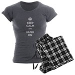 Keep Calm and Mush On Women's Charcoal Pajamas