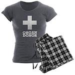 Organ Donor Women's Charcoal Pajamas