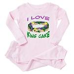 I LOVE KING CAKE Baby Pajamas