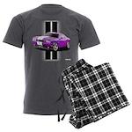 New Dodge Challenger Men's Charcoal Pajamas