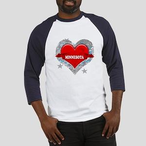 My Heart Minnesota Vector Sty Baseball Jersey