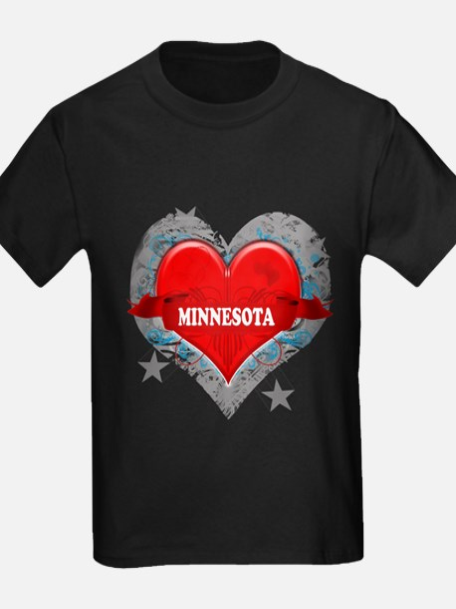 My Heart Minnesota Vector Sty T