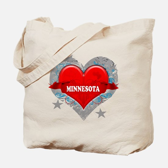 My Heart Minnesota Vector Sty Tote Bag