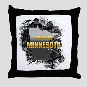 Pimpin' Minnesota Throw Pillow