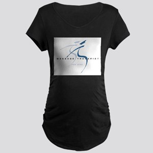 Massage Therapist Maternity Dark T-Shirt
