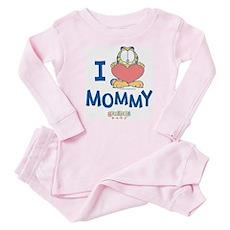 Baby GARFIELD, Heart Mommy, Infant Bodysuit