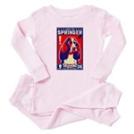 Obey the SPRINGER Spaniel! Baby Baby Pajamas