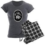 Tribal Bear Art Women's Charcoal Pajamas