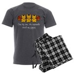One by one, the squirrels Men's Charcoal Pajamas
