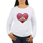 Valentine Women's Long Sleeve Tee (w/ 2CG logo)