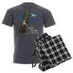 Ghost Orchid Men's Charcoal Pajamas