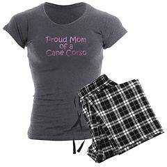 Proud Mom of a Cane Corso Women's Charcoal Pajamas