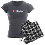 I Love Hiking Women's Charcoal Pajamas