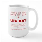 Leg day Large Mug