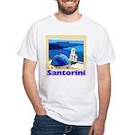 Santorini Greece White T-Shirt