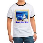 Santorini Greece Ringer T