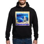 Santorini Greece Hoodie (dark)