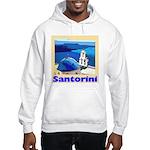 Santorini Greece Hooded Sweatshirt