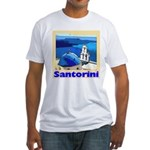 Santorini Greece Fitted T-Shirt