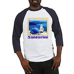 Santorini Greece Baseball Jersey