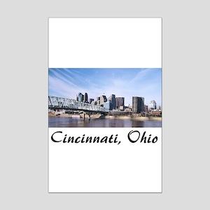 Cincinnati Ohio Mini Poster Print