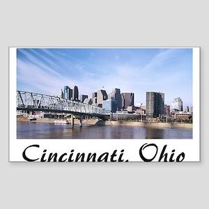 Cincinnati Ohio Rectangle Sticker