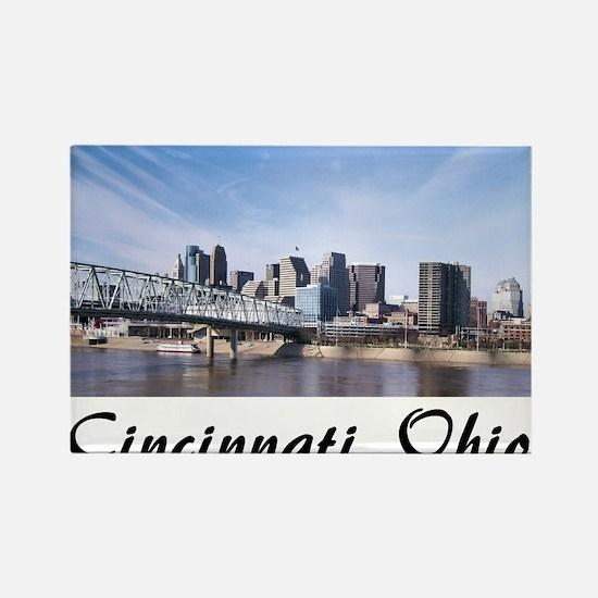 Cincinnati Ohio Rectangle Magnet