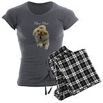 Chow Chow Dog Women's Charcoal Pajamas
