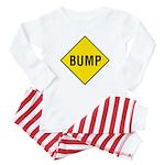 Yellow Bump Sign - Baby Pajamas