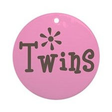 Babie's Shower - Twin Girls Ornament (Round)