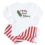 I Love Aunt Tiffany - custom Baby Pajamas