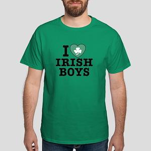 I Love Irish Boys Dark T-Shirt