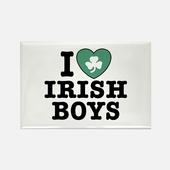 I Love Irish Boys Rectangle Magnet